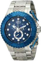 Invicta Men's 12943 Pro Diver Chronograph Blue Textured Dial Stainless Steel Watch