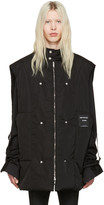 Raf Simons Black Robert Mapplethorpe Edition Oversized Bodywarmer Self Portrait Vest
