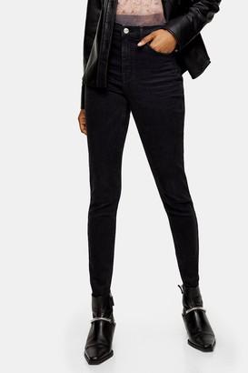 Topshop Worn Black Jamie Skinny Jeans