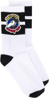 Moschino Mickey Rat patch socks