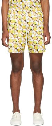 Rochambeau Yellow Brad Pitt Sport Shorts