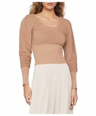 BCBGMAXAZRIA Women's Puffy Ribbed Sweater