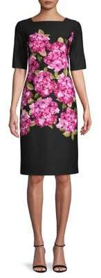 Gabby Skye Floral Squareneck Dress