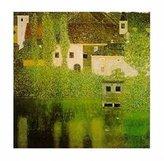 Gustav 1art1 Posters Klimt Poster Art Print - Castello Sul Lago Atter (20 x 16 inches)