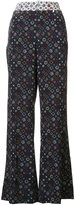 Derek Lam 10 Crosby printed flared pants
