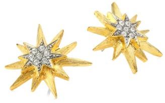 Kenneth Jay Lane Two-Tone Star Stud Earrings