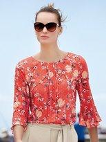 M&Co Floral print dobby blouse