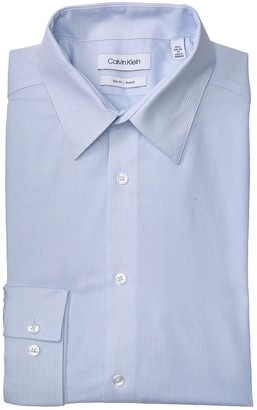 Calvin Klein Slim Fit Long Sleeve Water Mill Dress Shirt