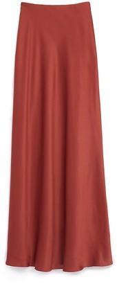 Express High Waisted Satin Maxi Slip Skirt