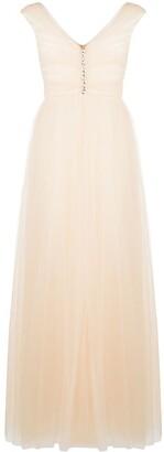 Giambattista Valli V-Neck Flared Evening Gown