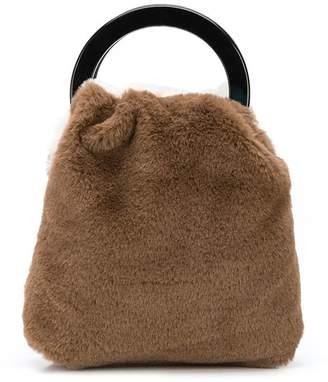 Lizzie Fortunato faux fur tote bag