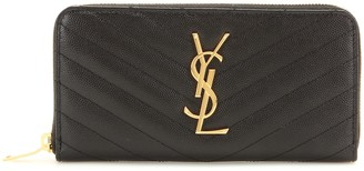 Saint Laurent Monogram leather wallet