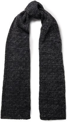 Sandro Metallic Pointelle-knit Scarf