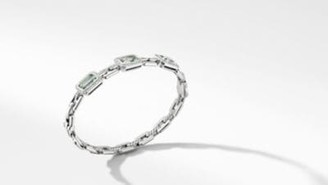 David Yurman Novella Three Stone Bracelet With Prasiolite And Pave