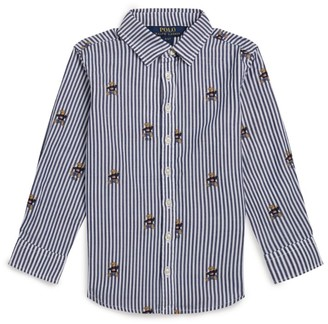 Ralph Lauren Kids Striped Polo Bear Shirt (2-4 Years)