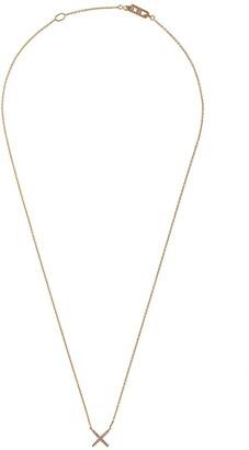 Eva Fehren 18kt rose gold diamond X pendant necklace