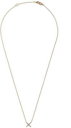 Eva Fehren 18kt rose gold diamond X pendant necklace
