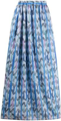 Emporio Armani Geometric Print Maxi Skirt