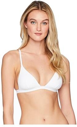 Vitamin A Swimwear Moss Ribbed Top (White EcoRib) Women's Swimwear