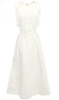 Current/Elliott Cutout Denim Midi Dress