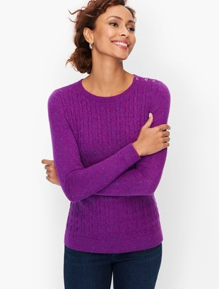 Talbots Supersoft Cableknit Sweater - Tweed