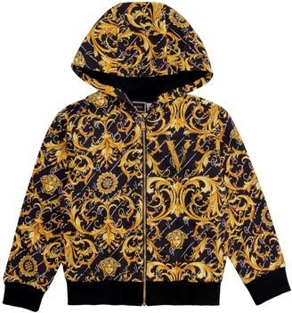 Versace Cotton Full Zip Hoodie