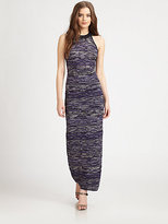 M Missoni Multi-Pattern Knit Maxi Dress
