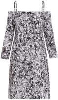 Jil Sander Risiko Print Off Shoulder Dress