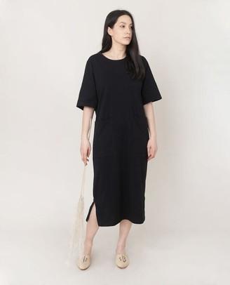 Beaumont Organic Lillian Organic Cotton Dress In Black - Black / Extra Small