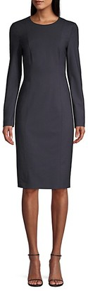 HUGO BOSS Damola Slim-Fit Stretch-Wool Sheath Dress