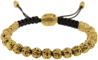 John Varvatos Brass Distressed Bead Bracelet