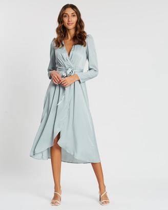 Vero Moda Julia V-Neck Long Sleeve Calf Dress