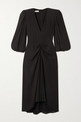 Philosophy di Lorenzo Serafini Asymmetric Gathered Crepe Dress - Black