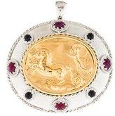 Tagliamonte Two-Tone Ruby & Sapphire Neoclassical Pendant