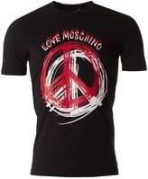 Moschino Peace Logo Slim Fit Crew Neck T-shirt