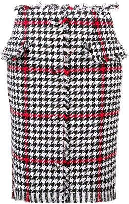 MSGM houndstooth pattern skirt