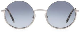 Miu Miu 52MM Embellished Round Sunglasses