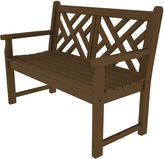 Polywood Chippendale Bench, Teak
