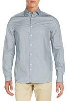 J. Lindeberg Slim-Fit Patterned Cotton Shirt
