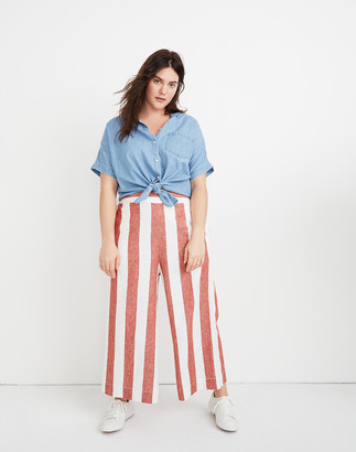 Madewell Tall Huston Pull-On Crop Pants in Bold Stripe