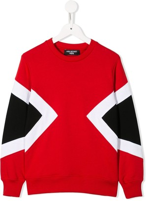 Neil Barrett Kids Geometric Panels Sweatshirt