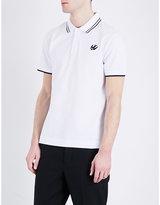 Mcq Alexander Mcqueen Swallow-logo Cotton-piqué Polo Shirt