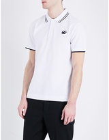 Mcq Alexander Mcqueen Swallow-logo Cotton-piqué Polo Shirt