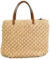 Ermanno Scervino woven wicker tote - women - Leather/Straw - One Size