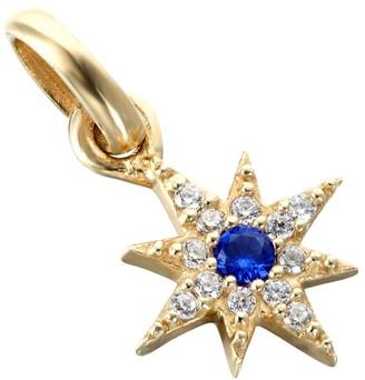 Seol + Gold 18Ct Gold Vermeil Sapphire Cz Tiny North Star Pendant
