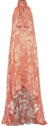 Antonio Berardi Pussy-bow Printed Fil Coupe Chiffon Gown