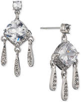 Carolee Silver-Tone Cubic Zirconia Mini Chandelier Earrings