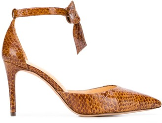 Alexandre Birman Snakeskin-Effect Pump Shoes