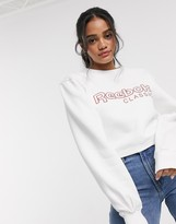 Reebok Classics Classic fleece crew neck sweatshirt with rosette