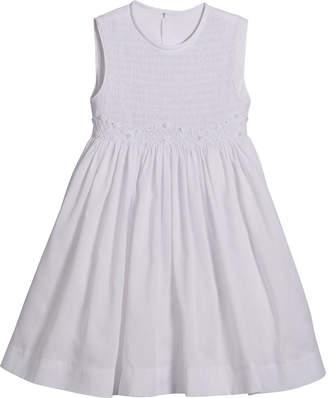 Luli & Me White Smocked Dress, Size 5-6X